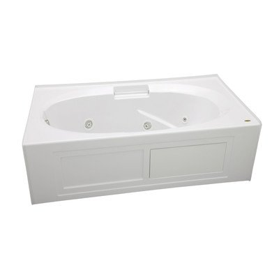 Jacuzzi NVS6036WLR2XXY 60-Inch x 36-Inch Nova Drop In Three Wall Alcove Comfort Whirlpool Bathtub with Basic Controls, Left Drain and Right Pump Jacuzzi Nova Bathtub Alcove