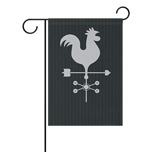 Anhuishop Weather Vane with Rooster Garden Flag 12.5
