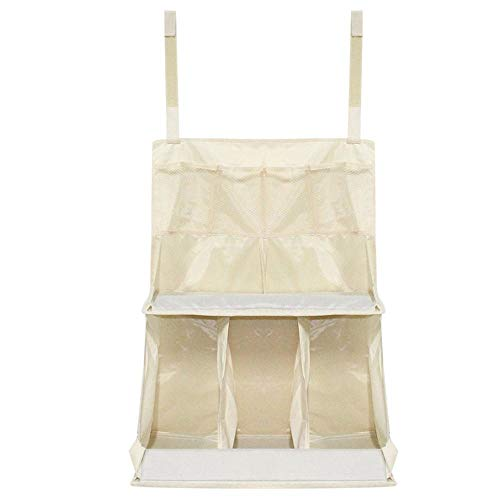 Gold Happy Waterproof Nursery Organizer Baby Diaper Caddy Bed Hanging Diaper/Toys/Clothes/Bottle Storage Bag For Crib Bedding (Toy 3 Piece Cradle Bedding)