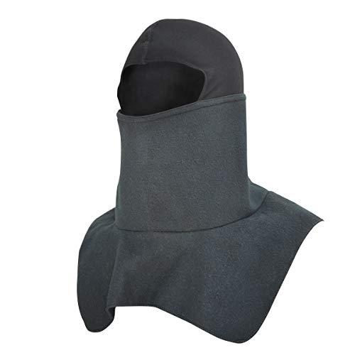 Balaclava Snowdanna Neck & Face Shield Black Fleece With Spandex Crown (Crown Balaclava Spandex)