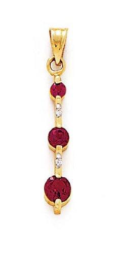 14 carats-Rhodolite-Diamant-JewelryWeb et rêches