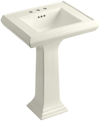 KOHLER K-2238-4-96 Memoirs Pedestal Bathroom Sink with 4