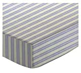 SheetWorld Fitted Crib / Toddler Sheet - Lavender Dual Stripe - Made In USA