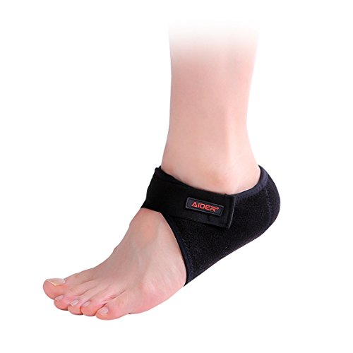Aider Heel Pad Type 2 - Relief Pain for Plantar Fasciitis, Arch Support with Sock Worn in Shoes, Lightweight and Thin Neoprene Protectors for Men & Women (Right) by Aider