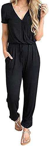 PRETTYGARDEN Womens Drawstring Jumpsuit Pockets product image