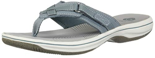 - CLARKS Women's Breeze SEA Sandal, Blue Grey Synthetic, 110 M US