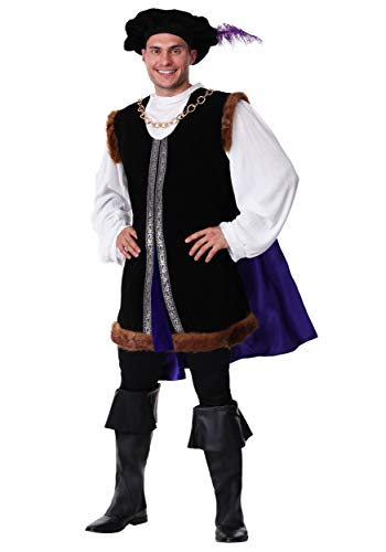 Men's Noble Ren Faire Costume Adult Renaissance Nobleman Costume Large