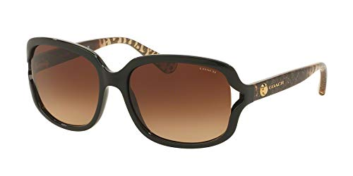 Coach Woman Sunglasses, Black Lenses Injected Frame, ()