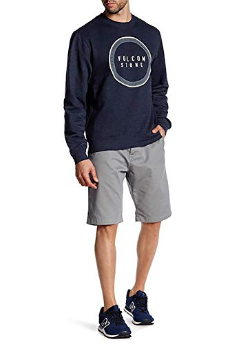 Volcom Star - Volcom Mens Vmonty Modern Fit Short (33, Grey)