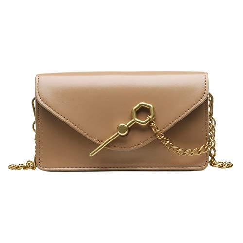 LUXISDE Women Fashion Pure Color Pu Leather Shoulder Bag Crossbody Bag Messenger Chest Bags ()