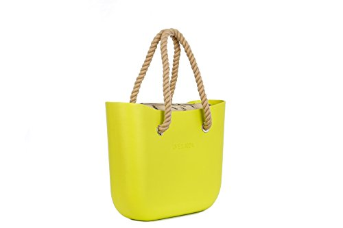 Lime & Soda Women's Fashion Eva Handbag - Rope Handles - Mix & Match to find your style (Lime 1)