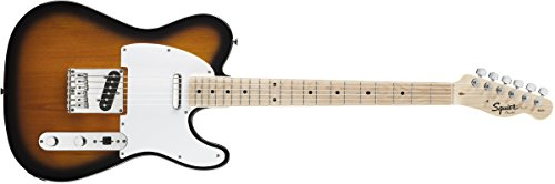 Colour Sunburst Electric Guitar (Squier by Fender Affinity Telecaster Beginner Electric Guitar - Maple Fingerboard, 2-Color Sunburst)