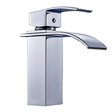 ALTON Brass Waterfall Single Lever Basin Mixer/Hot & Cold Wash Basin Tap/Bathroom Faucet (Chrome)