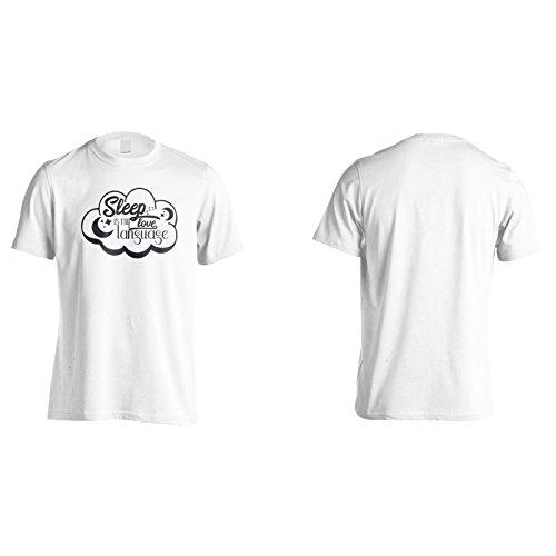 Schlaf Ist Meine Liebessprache Herren T-Shirt n913m