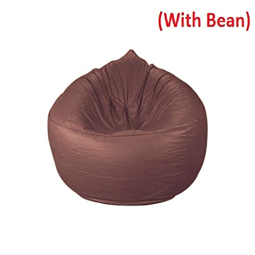 CADDYFULL XXXL Muddha Chair Bean Bag Cover with Beans  Beans Quantity 2.5kg   Tan