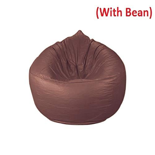CADDYFULL XXXL Muddha Chair Bean Bag Cover with Beans  Beans Quantity 2.5kg   Tan
