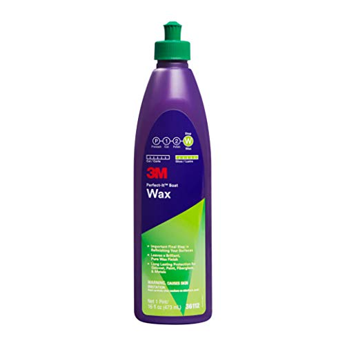 (3M Perfect-It Boat Wax (36112) - For Boats and RVs - 1 Pint - 16 Fluid Ounces )