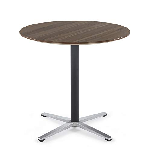 Sunon Round Bistro Table Small Round Table with X-Style Pedestal for Pub Table/Cafe Table/Office Table/Conference Table (Kass Walnut,29.5-Inch Height)