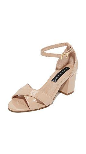 STEVEN by Steve Madden Women Voomme Dress Sandal Nude Patent