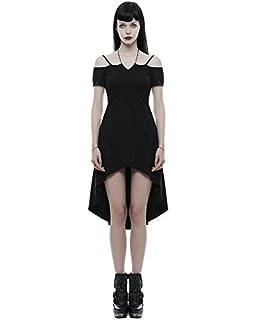 fd0b238a1aee Punk Rave Robe Gothique Noir pour Femmes sorcière Occulte Punk Steampunk  Vintage
