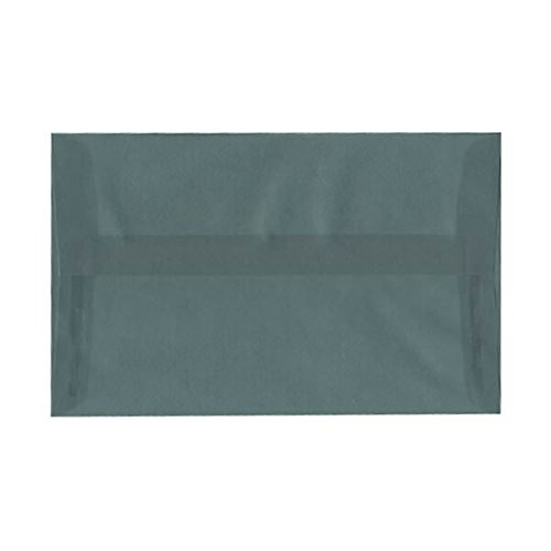 (JAM PAPER A10 Translucent Vellum Invitation Envelopes - 6 x 9 1/2 - Steel Blue - 25/Pack)