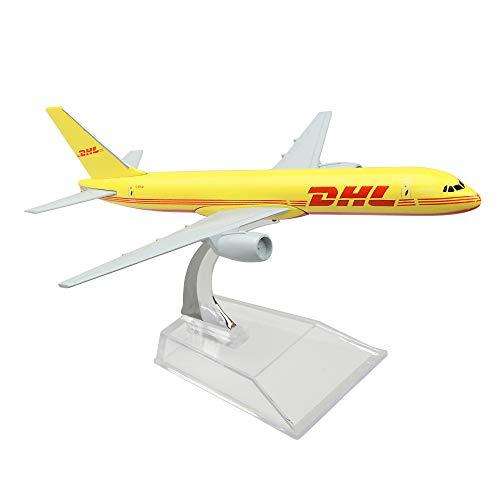 (Lose Fun Park DHL Boeing 757 16cm Metal Airplane Models Child Birthday Gift Plane Models Home Decoration)
