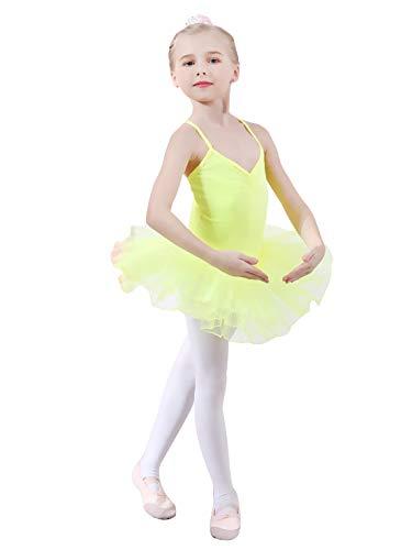 Yuanu Niña Tutu Traje de Ballet Infantil Ropa de Baile Princesa ...