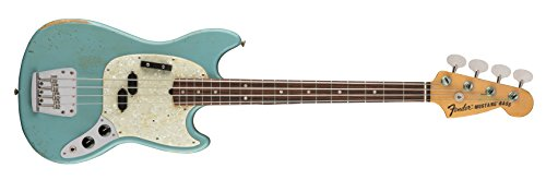 Fender JMJ Signature Series Road Worn Mustang Bass - Rosewood Fingerboard - Faded Daphne Blue ()