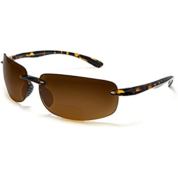 829020d78e Maui Island Polarized Bifocal Reading Sunglasses with Polycarbonate Lens  for Men and Women Wrap-Around