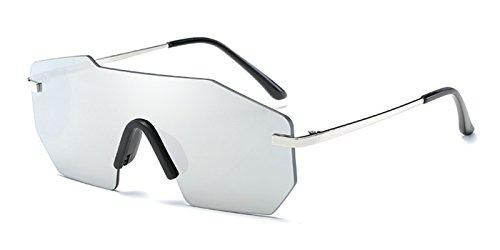 TIJN Sleek Rimless Shield Futuristic Sunglasses for - Sunglasses Futuristic
