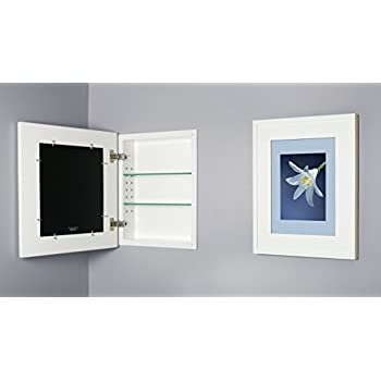 13x16 White Concealed Cabinet (Regular), A Recessed Mirrorless Medicine  Cabinet With A Picture Frame Door (available In Multiple Colors U0026 Styles)