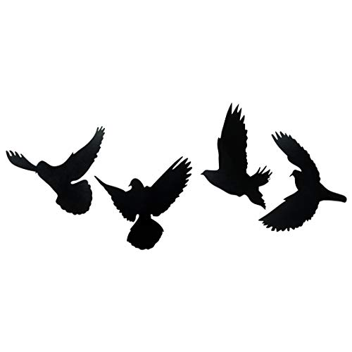 4 Flying Birds Plaque Sign – Black Wooden Plaque Wall Hangings Home Room & Wall Decor Wall Art by Sehaz Artworks