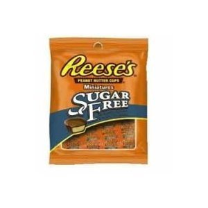 Sugar Free Mini Reeses Peanut Butter Cups 3 Ounce Theater Size Pack 12 Bags by Reese's (Sugar Mini Free)