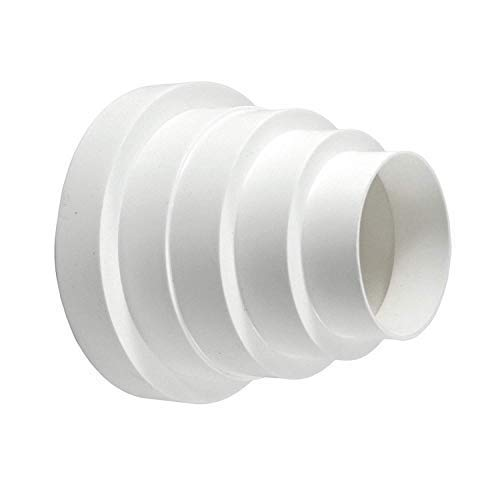 calimaero REDk Plastic Duct Inline Reducer Increaser Connector Adapter 3 4 5 6 Inch ()