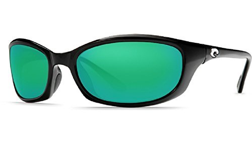 New Costa Del Mar Harpoon 580G Shiny Black/Green Mirror Polarized Lens 60mm - Harpoon Costa 580g