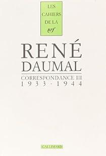 Correspondance par Daumal