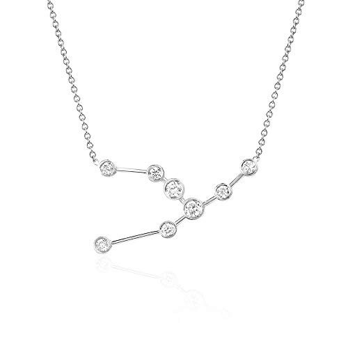 espere Sterling Silver Zodiac Necklace Constellation Jewelry Birthday Gift Sorority Sister Gift [Taurus - Apr 20 - May 20] ()