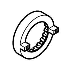 Hitachi 320877 Ring Gear Wh/Wr14Dm/Dl Replacement Part