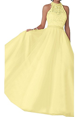 Abiballkleider Damen Lang Prinzess Marie Spitze Gelb Tuell Abschlussballkleider Gelb Abendkleider La Hell Braut Hell EvwxqC