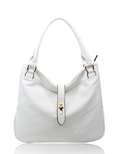For Soft Bag CW16001 Shoulder Tote Leather Cream Faux Her Women's Bags Handbags Bag LeahWard White Tqfz0A