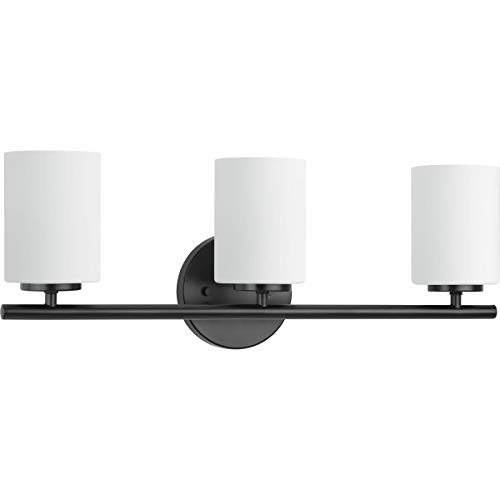 Progress Lighting P2159-31 Replay Black Three-Light Bath & Vanity,