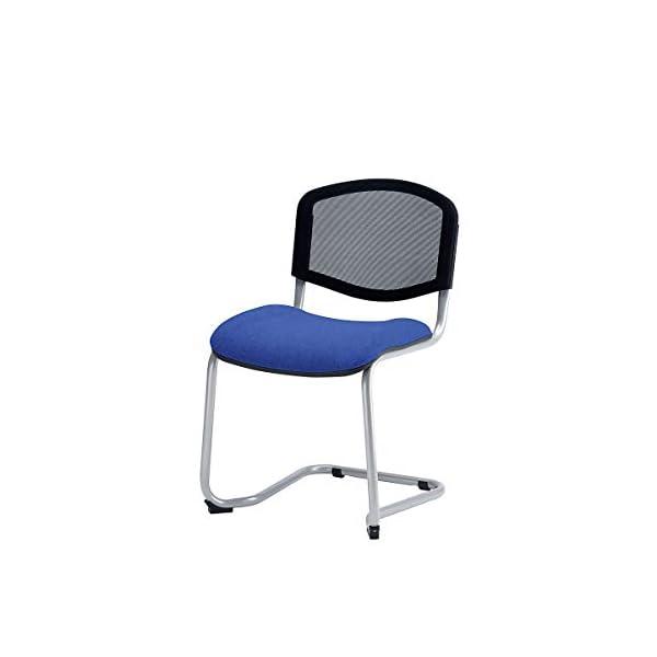 Chaises empilables à piétement luge vendus par lot de 2 – Chaise Chaise de bureau Chaise de réunion Chaise salle d'attente chaise empilable (Noir)