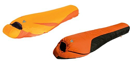 Alpinizmo High Peak USA Ultra Lite 20F Sleeping Bag Water Proof 0F Sleeping Bag Combo Set, Orange, One Size [並行輸入品] B07R3Z7NPZ