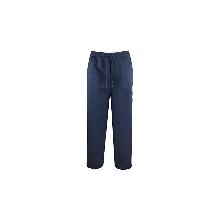 Gary Com Men Fleece Elastic Waist Sweatpants Drawstring Joggers Athletic Workout Sweat Pants Active Sport Running Wear