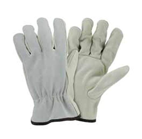 (West Chester Medium Natural Select Grain Cowhide Unlined Drivers Gloves - Pack of 12)