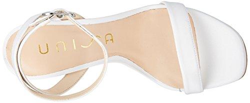 White White Ankle White Strap Sandals na Women's Unisa Saino qF0SHS