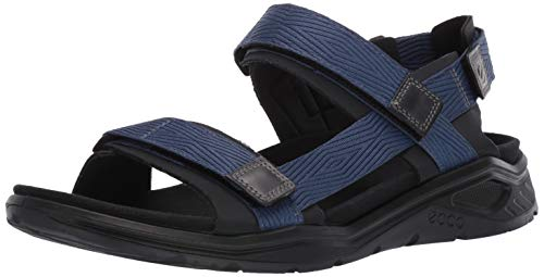 ECCO Men's X-Trinsic Sandal Black/True Navy Textile 44 M EU (10-10.5 US)