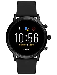 Gen 5 Carlyle HR Heart Rate Stainless Steel and Silicone Touchscreen Smartwatch, Color: Black (Model: FTW4025)