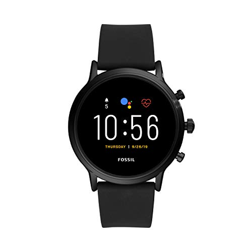 Fossil Gen 5 Carlyle HR Heart Rate Stainless Steel and Silicone Touchscreen Smartwatch, Color: Black (Model: FTW4025) (Fossil Watch Women Heart)