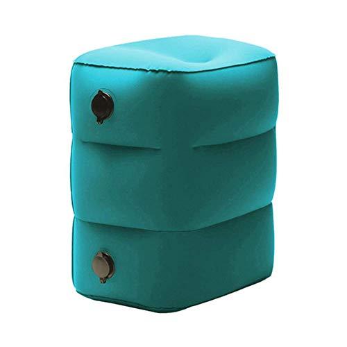Portable Travel Foot Rest,Inflatable Flight Pillow Kids Toddler Bed,Home Office Adjustable Height Under Desk Footrest Footstool for Living Room Bedroom Garden